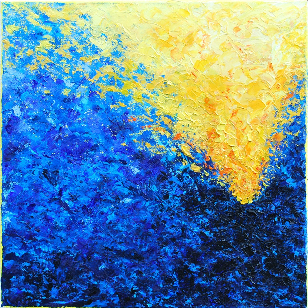 Original Abstract Square Oil Painting Contemporary Textured