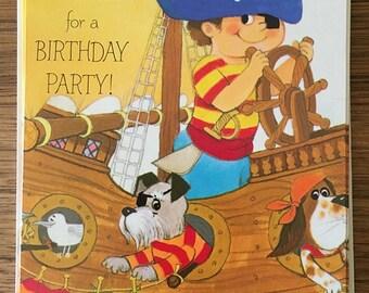 Vintage | Birthday Party | Invitations | Sailor Boy