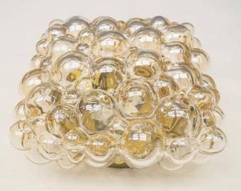 Rectangular Bubble Glass Flush Mount by Helena Tynell for Limburg, 1960s