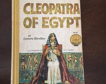 "Vintage 1961 ""Cleopatra Of Egypt"" by Leonara Hornblow, vintage book, school book, history book, Ancient Egypt book"