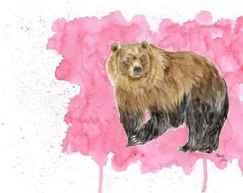 Watercolour Fun Animals - MADE TO ORDER