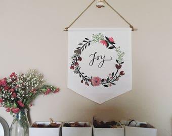 Custom Handmade Banners: Floral Wreathes
