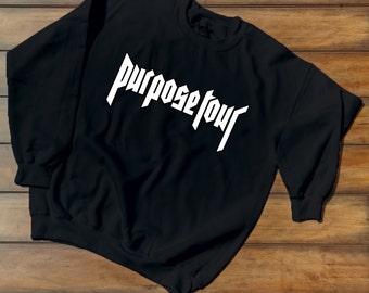 Purpose Tour crewneck - Justin Bieber Tour - Purpose Tour Merchandise - Purpose Tour Staff Exclusive crewneck