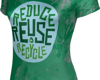 ProSphere Women's Recycle Reduce and Reuse Causes Marble Tech Tee
