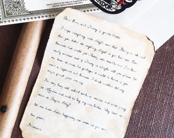 Hermione's Letter to Harry - Chamber of Secrets - Handmade Replica