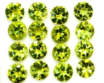 10 pcs Lot 5mm PERIDOT Round Faceted gemstone AAA Quality green Peridot round faceted Peridot loose gemstone calibrated size peridot round