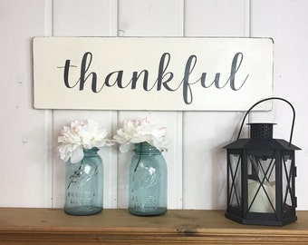 """thankful sign 