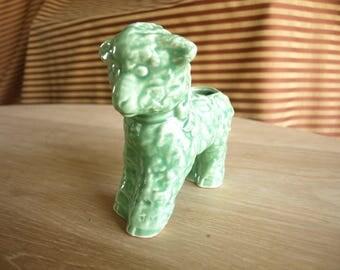 Vintage McCoy Pottery Lamb Sheep Planter Green, Adorable