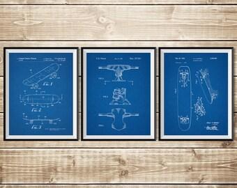 Skateboard Group, Patent Print Group, Skateboarding, Skateboard Deck, Double Kick Skate, Skateboard Brake, Skateboard Art, INSTANT DOWNLOAD