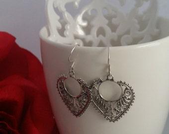 Sterling SIlver Earrings with Oriental Look Veronica, Silver Earrings, Oriental Earrings, Dangle Earrings, Beautiful, Handmade in Spain
