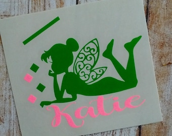 Fairy Decal/ Fairy Monogram/Mermaid/Pixie Monogram/Fairy Sticker/Fairy Dust Decal/Pixie Dust Decal/Initials/HTV Decal