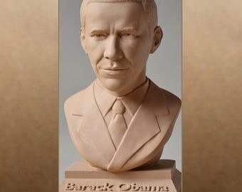 Barack Obama color sand bust figure sculpture