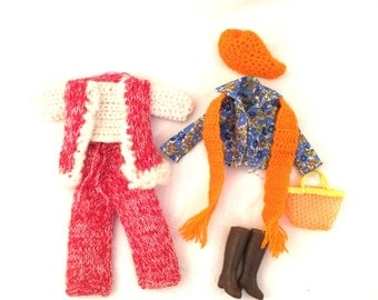Lot of 2 vintage Barbie and accessories outfits