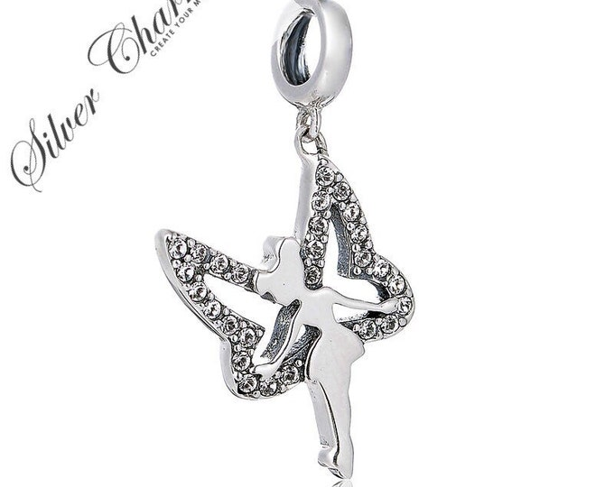 SC Tinker Bell Silver Pendant Charm S925 Sterling Silver Gift Packing Included