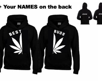 BEST - BUDS WHITE Hoodies+Your name or other text