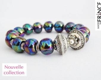 Iridescent black Olympus bracelet