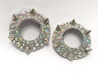 """Silver Rhinestone and Spiked Anti-Pasties- 2.5"""""""