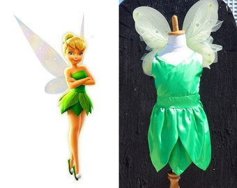 Tinkerbell costume tinkerbell dress girsl fairy costume including wings