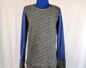 Cozy Blue and Gray Sweatshirt- Sizes 2T-12
