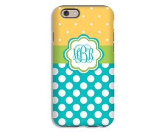 Monogram iPhone 8 case/8 Plus case, polka dot iPhone 7 case/7 Plus, iPhone X case, 6s case, iPhone 6s Plus case/6 plus case, 3D iPhone case
