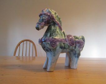 Horse ceramic horse mid century modern 70s