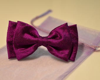 Womens bow tie Bow Tie Magenta Bow Tie Purple Bow Tie Bow Tie for Women Gift for her Gift for Mom Gift for Daughter Gift for Girlfriend
