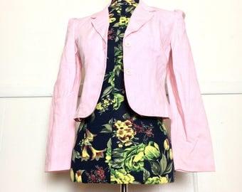 70s Juniors Petite Pastel Pink Pantsuit