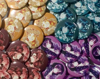 Lovely Words Button Set