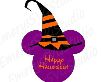 SVG File for Halloween Witch Hat Mickey