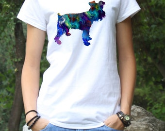 Schnauzer Tee - Dog T-shirt - Fashion Tee - White shirt - Printed shirt - Women's T-shirt