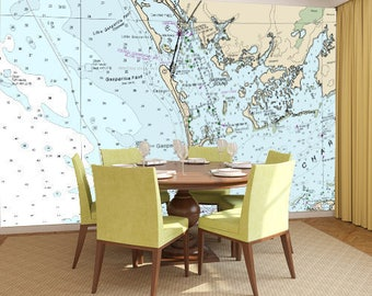 Nautical Chart - Navigation Map Wall Mural - Entire USA Available