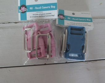 Sew Sweetness ansel camera bag hardware, choose blue or pink
