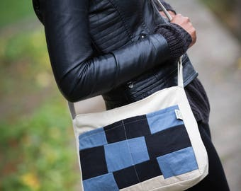 NEW IN! Patch Cross Body Bag // Shoulder Bag // Canvas Bag