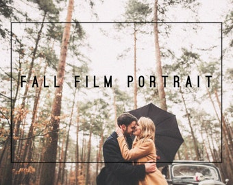 Fall Film Portrait Premium Lightroom Presets Professional Photo Editing for Portraits, Newborns, Weddings By LouMarksPhoto