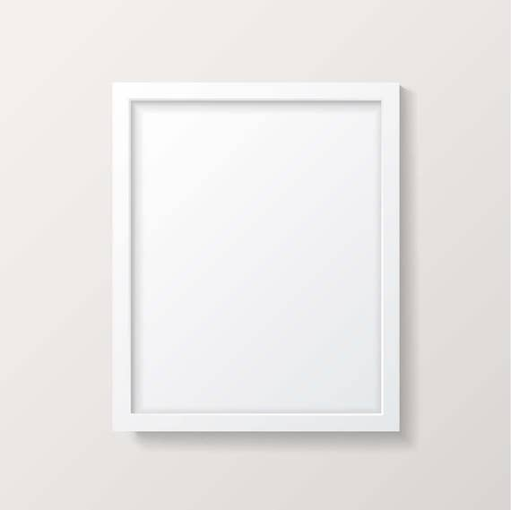 frame mockup white picture frame empty frame poster mock up vector eps instant download commercial use - Empty Picture Frame