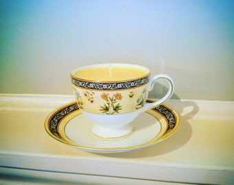 Lemon Verbena  100 % Soy Teacup Candle