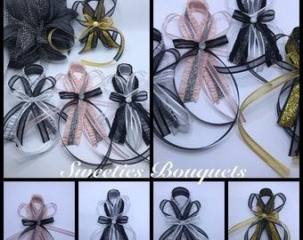 Boutonnieres Corsage Pin/Wedding/Prom/Birthday Blush Black boutonnieres/ Groomsman/ Groom