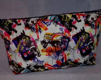 Doctor Who - Graffiti patterned Zippered Bag