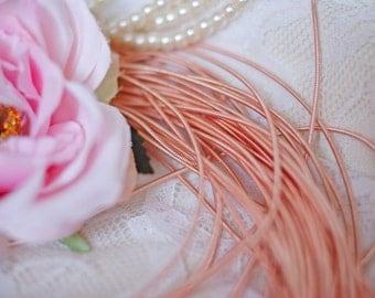 Rose Gold Circular Wire-Pearl Purl- Metalic Wire-Rose Gold Wire- Cirkular wire