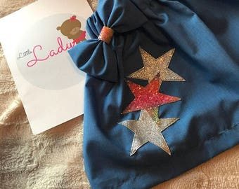 Glitter star skirt and matching bow