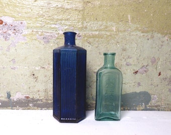 Vintage Apothecary Glass Bottles