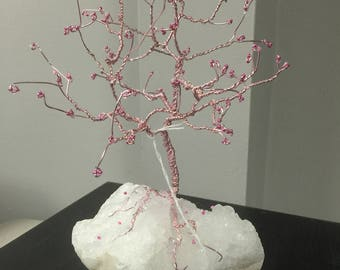 Breast Cancer Awareness Hope Wire Tree