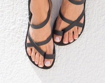 Sandals,Greek sandals,Leather sandals,Women sandals,Strap sandals,Handmade sandals,Women shoes,Triskelion,KLEIO,