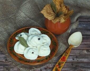 Dumplings Soap - 5 soaps, creative handmade soap, dumplings, food soap, food dough, soap for the man, gift for a man, unusual gift, meal