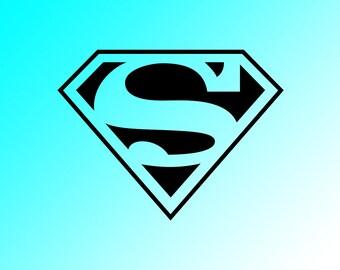 Superman Vinyl Decal Car Laptop Yeti Tervis Sticker Window
