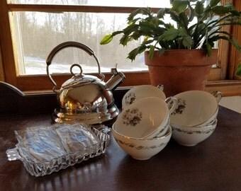 Vintage Teacups Flair Fine China Japan Irene 4149-- Set of 6