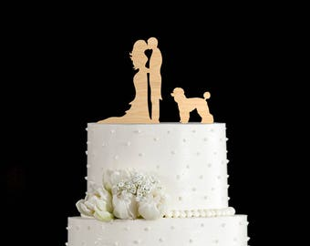 Couple silhouette Poodle wedding topper,Couple Kissing topper Poodle,Wedding cake topper dog,Poodle cake topper,Poodle silhouette,5872017