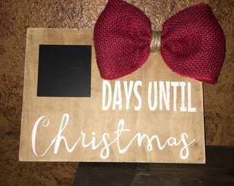 Christmas Countdown with a bow