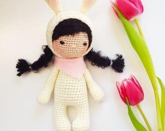 Amigurumi Doll Anleitung : Amigurumi crochet doll PDF pattern by AmalouDesigns on Etsy