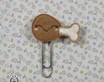 Chicken leg planner clip / planner clip, chicken drumstick planner clip, turkey, kawaii turkey, felt chicken, chicken / turkey planner clip